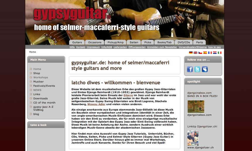 03.11.2012 Gypsy Swing Homepage | GITARRENZENTRUM | Gitarrenzentrum